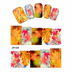 Image 3 - 12 PACK/ LOT  WATER DECAL NAIL ART NAIL STICKER SLIDER FULL COVER RED YELLOW MAPLE TREE AUTUMN FALLING LEAF LEAVES  UP25 36