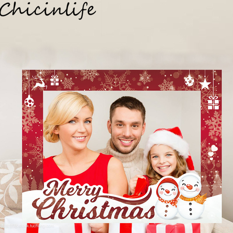 KLJUYP Merry Christmas Photo Booth Props Photobooth Wedding Favors ...