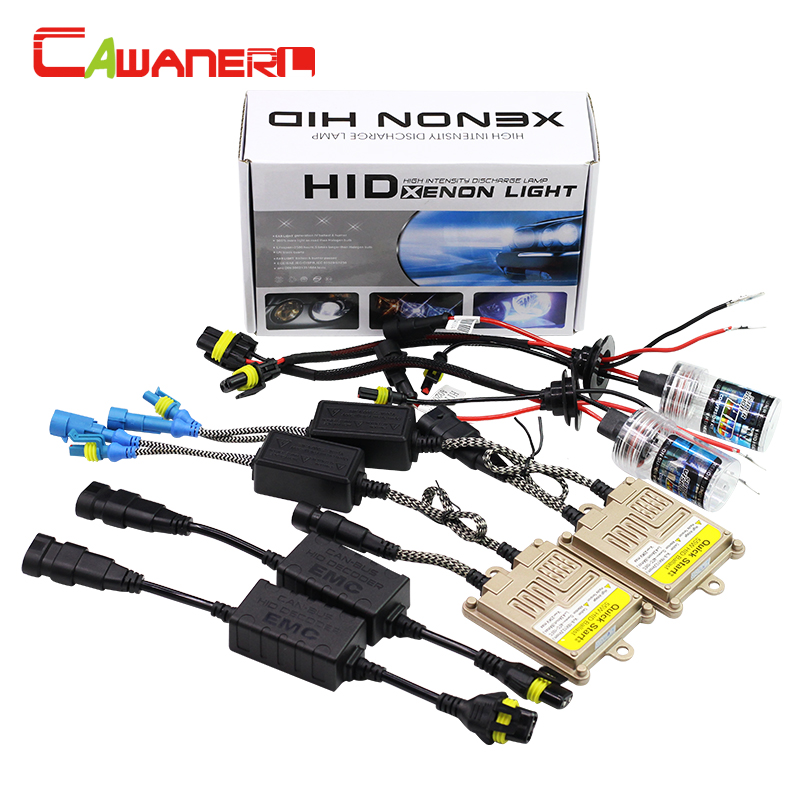 Cawanerl 55W H1 H3 H7 H8 H9 H11 9005 HB3 9006 880 881 Canbus HID Xenon Kit 4300K AC Ballast Decoder Bulb Car Headlight Fog Light