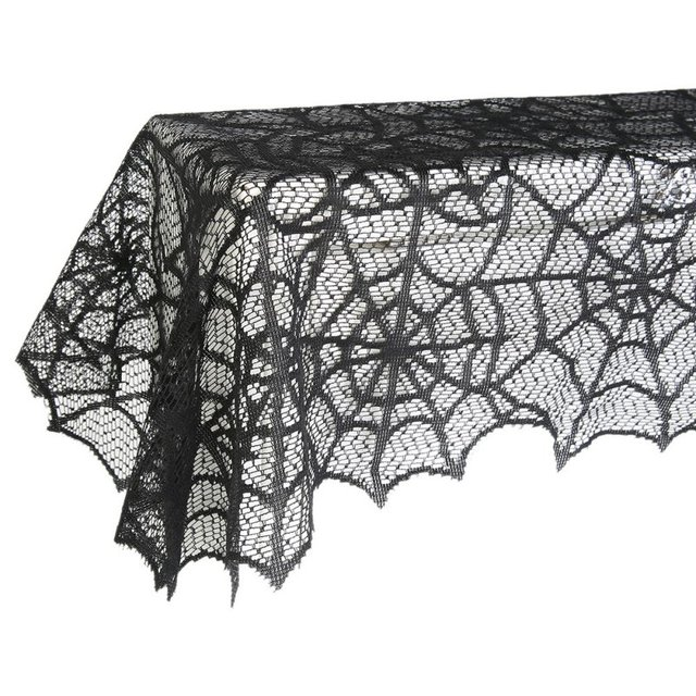 2019 Spider Web Net Black Halloween Tablecover Lace Halloween Easter Festival Tablecloth For Parties Event Decor, & Dinner New