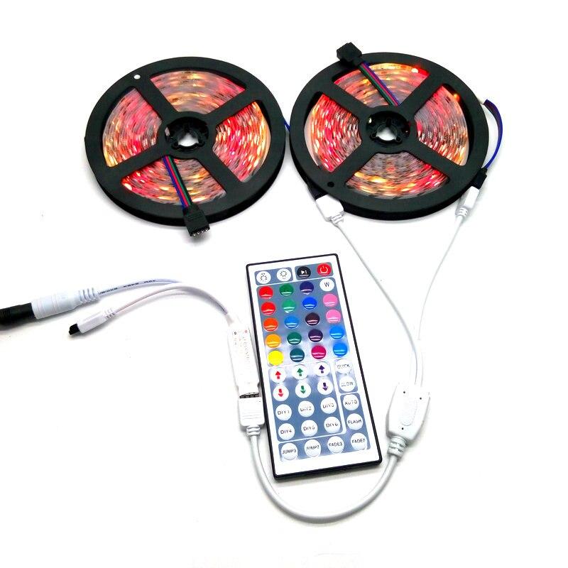 10M LED Strip Set SMD 5050 RGB 600LED Pita Fleksibel Lampu Hiasan - Pencahayaan LED - Foto 5