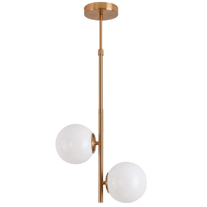 Luces colgantes de Metal Led modernas de hierro forjado bola redonda de vidrio de latón lámpara colgante para sala de estar iluminación nórdica de cocina