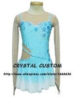 2016 Custom Ice Skating Dresses For Women Graceful New Brand Figure Skating Dress For Competition DR2769