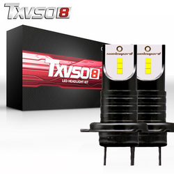 TXVSO8 2Pcs led h7 6000K car headlight bulbs CSP Chips- 12V 30000LM 6000K 55W/Bulb Headlamp led automotivo luces led para auto