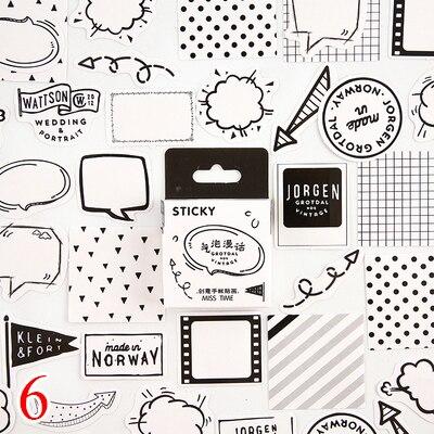 45 шт./кор. канцелярские наклейки парным DIY Планета липкий Бумага Kawaii Луна растения наклейки для украшения дневник в стиле Скрапбукинг - Цвет: Design 21