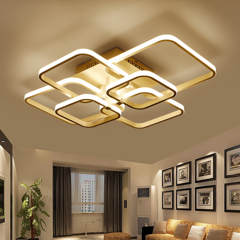 Acrylic thick Modern White led ceiling chandelier lights for living room bedroom dining room Home Chandelier lamp fixtures modern minimalist 9w led acrylic circular wall lights white living room bedroom bedside aisle creative ceiling lamp