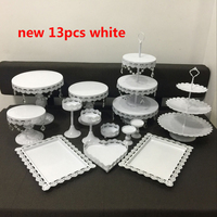 new white wedding cake stand cup cake rack barware decorating cooking cake tools bakeware set party dinnerware 13 pieces set