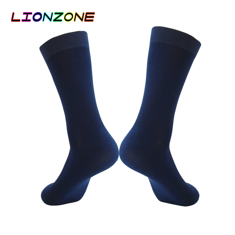 LIONZONE Men Dress Socks British Style Business Formal Occasions US9-13 Antibacterial Deodorant Gentleman Bamboo Socks