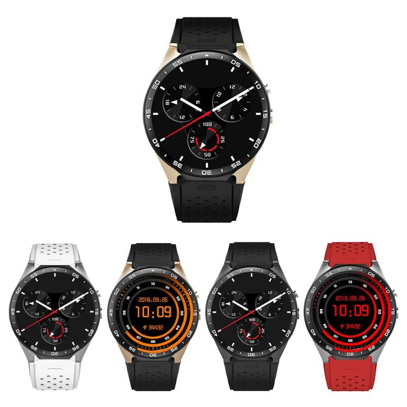 ALLOYSEED KW88 Android 5.1 1.39inch Screen 3G Smartwatch Android Phone 512MB 4GB GPS Pedometer Heart Rate Camera Smart Watch Sim dm2018 smart watch android gps sports 4g smartwatch phone 1 54 inch bluetooth heart rate tracker monitor pedometer pk kw88 dm98