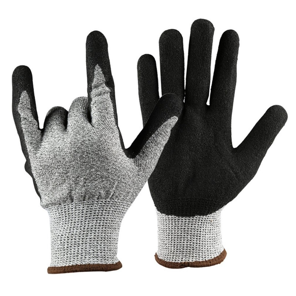 1 Pair of Working Gloves Anti Abrasion Cut Resistant Gardening Gloves Safety Labor Protective Gloves Metal Tactical Gloves 1 pair of cut resistant gloves hppe anti cut wear resistant working safety touch screen gloves anti abrasion gardening work