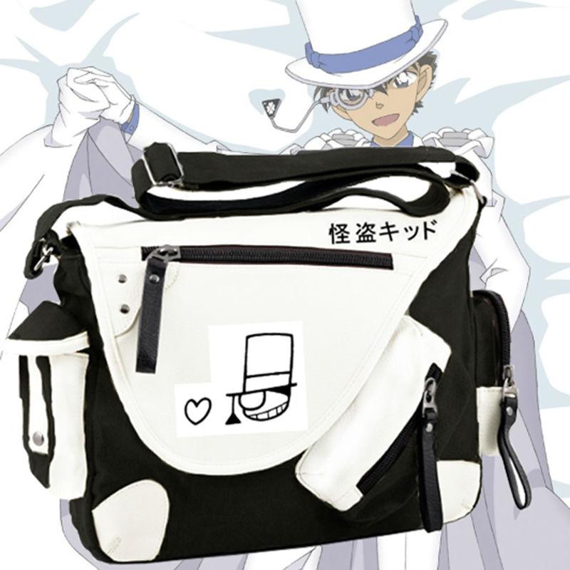 5dcfaef2ad57 Anime Detective Conan Shoulder Bag Cartoon Crossbody Bag Teens Boys Girls  School Bags Cool Travel Messenger Bag on Aliexpress.com
