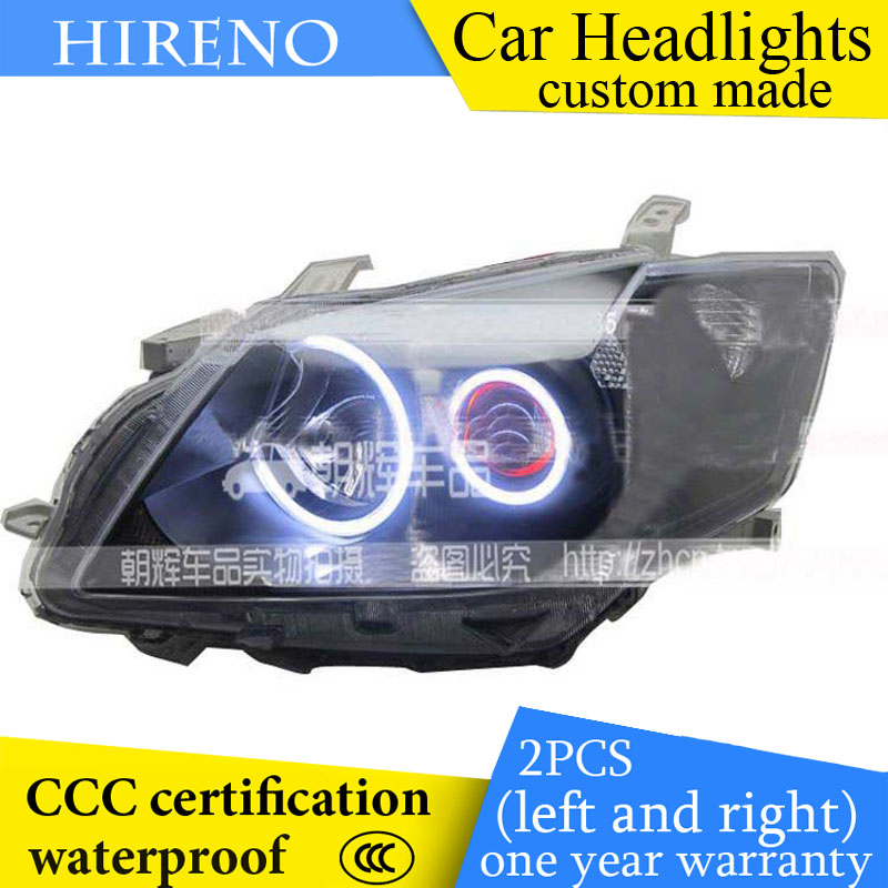 Hireno custom Modified Headlamp for Toyota Camry 2006-11 Headlight Assembly Car styling Angel Lens Beam HID Xenon 2 pcs hireno headlamp for cadillac xt5 2016 2018 headlight headlight assembly led drl angel lens double beam hid xenon 2pcs
