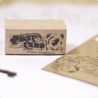 Post Card Rubber Wooden Stamps For Scrapbooking Carimbo Postcard Or Bookmark Scrapbooking Stamp 5 2 5cm