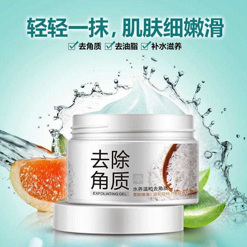 BIOAQUA Facial Cleanser Natural Facial Exfoliator Exfoliating Whitening Brightening Peeling Cream Gel Face Scrub Removal