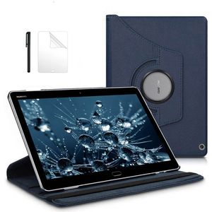 Premium 360 Rotating PU Leather Smart Case for Huawei MediaPad M3 Lite 10 BAH-W09/L09/AL00 10.1 inch Tablet Funda case+Film+Pen