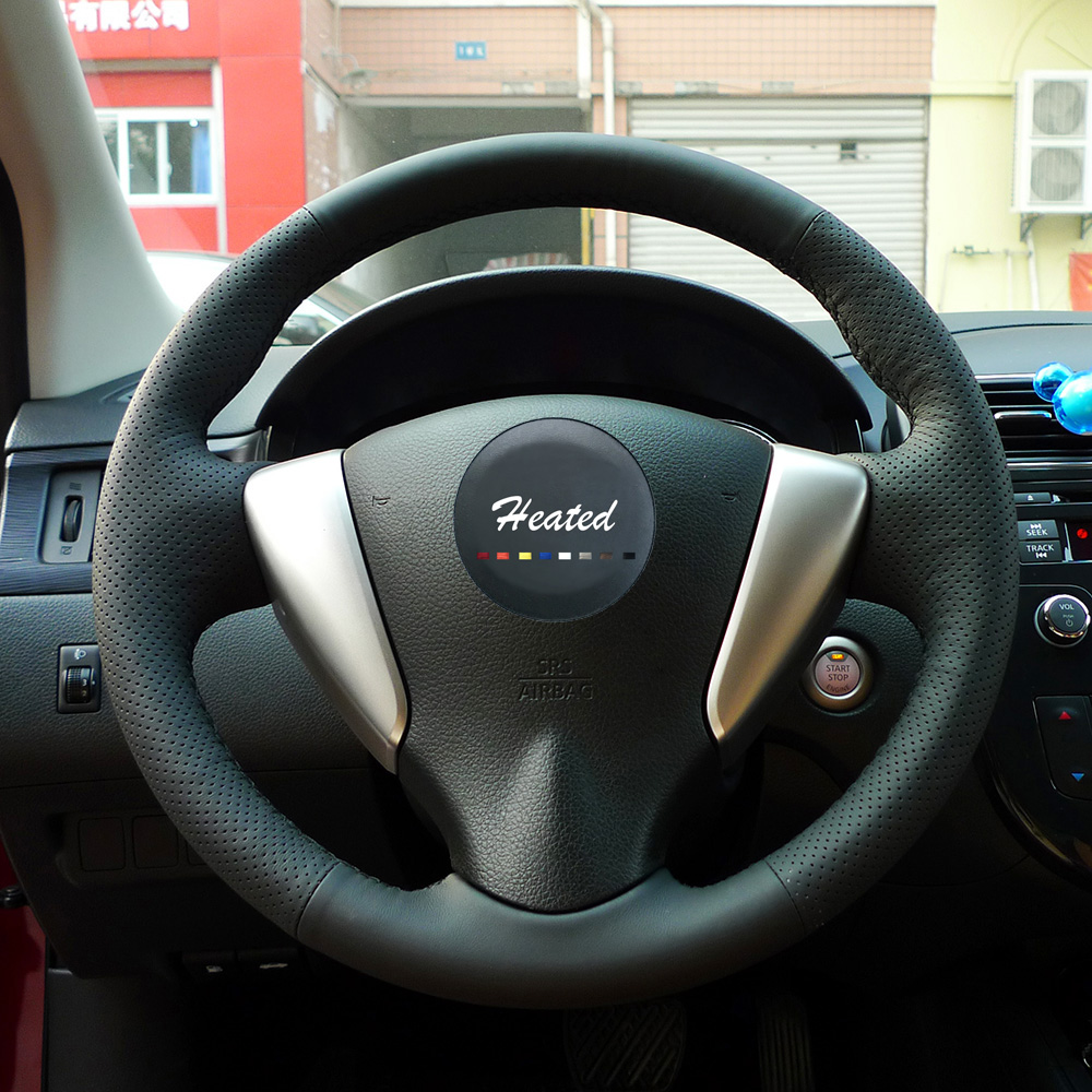 Steering Wheel Cover for Nissan Teana Altima 2013-2016 X-Trail QASHQAI Rogue Sentra Tiida braid on the steering wheel