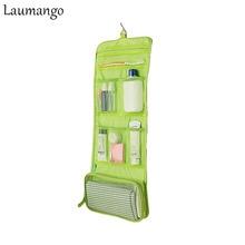 Laumango Portable Hanging Organizer Bag Foldable Cosmetic Makeup Case Storage Traveling toiletry bathroom storage bags