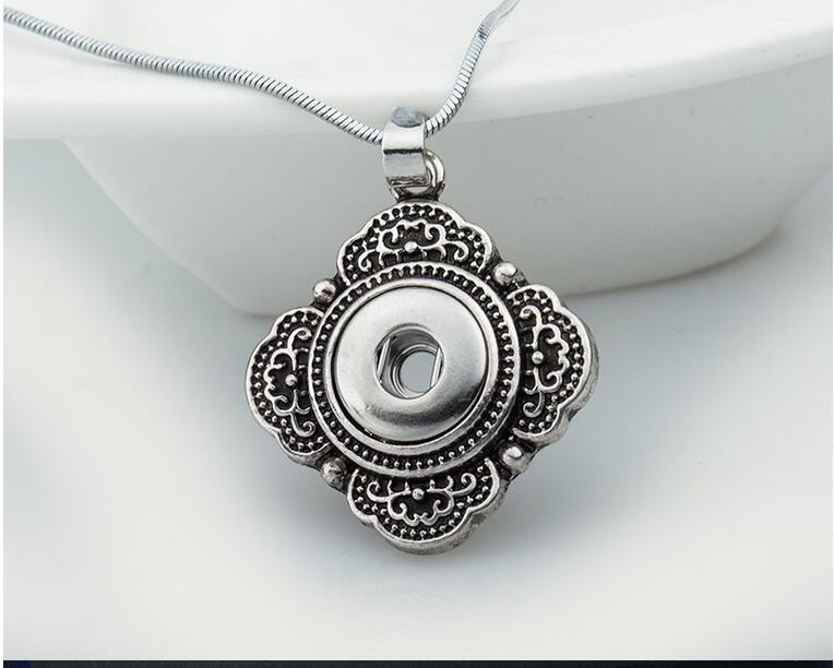 10pcs diy jewelry <font><b>12</b></font> <font><b>mm</b></font> watches DIY flower snap pendant button necklace image