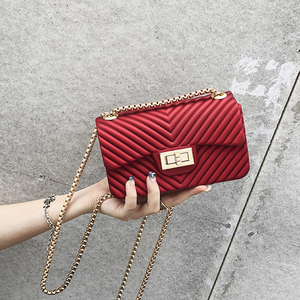 2019 Designer Luxury Brand Candy PVC Leather Women Bags Handbags Ladies Shoulder Crossbody Shopping Bag Girls Totes Pink Small