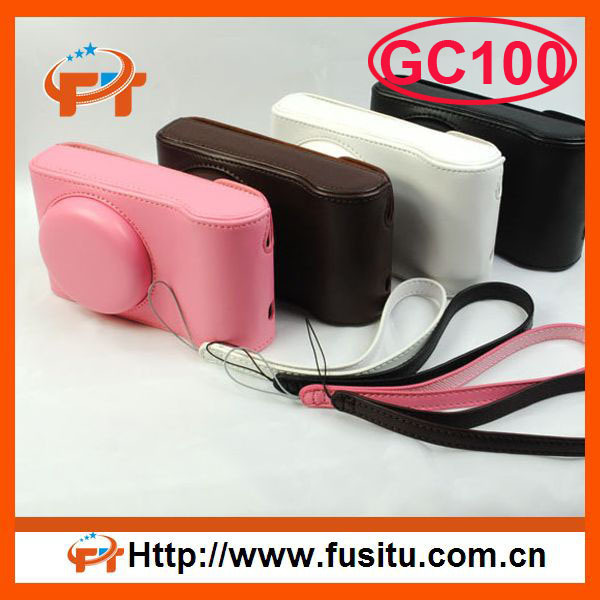 Free shipping Leather camera bag Cover For Samsung Galaxy Camera EK-GC100 GC-100