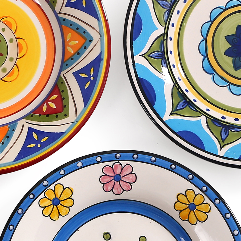 Hot Exotic Hand painted Moroccan Italy Bohemian Style Dinner Plate 8.5 Inch Colorful Salad Plates Dining Decoration Plate Gifts-in Dishes \u0026 Plates from Home ...  sc 1 st  AliExpress.com & Hot Exotic Hand painted Moroccan Italy Bohemian Style Dinner Plate ...