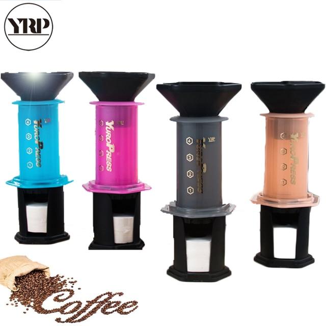 YRP YuroPress Portable Coffee Maker Espresso French Press barista tools Coffee Pot Air Press Drip Coffee Machine Filters Paper 2