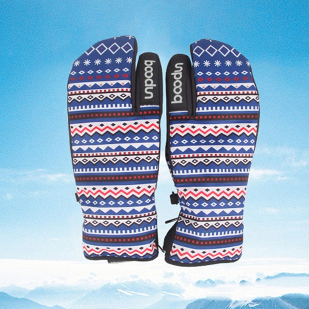 S-L Winter Women Men Snowboard Skiing Gloves Windproof Waterproof Non-slip Skating Gloves Thick fleece Warm Mittens Gloves