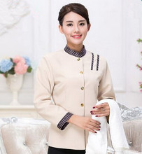 chinese hotel uniforms hotel waiter uniform hotel clothing long sleeve restaurant cleaner uniform restaurant waitress uniform - Restaurant Cleaner