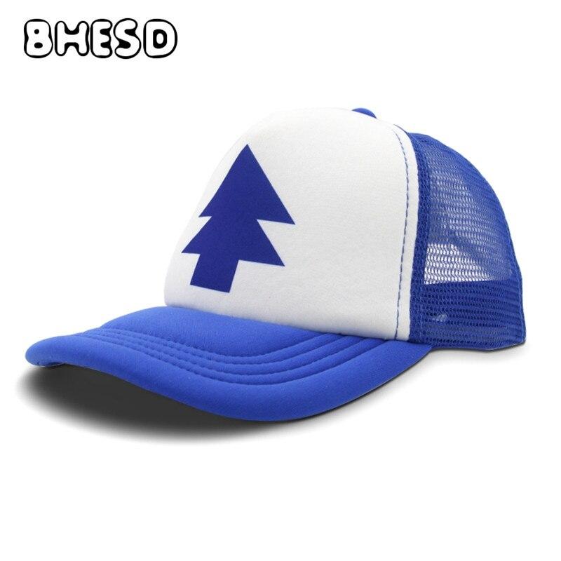 Prix pour BHESD 2017 La Gravité des Chutes snapback baseball cap Femmes Hommes Ourse cap papa chapeau Bleu pin cap C Bouchon de gravité Os ZXM-JY-188