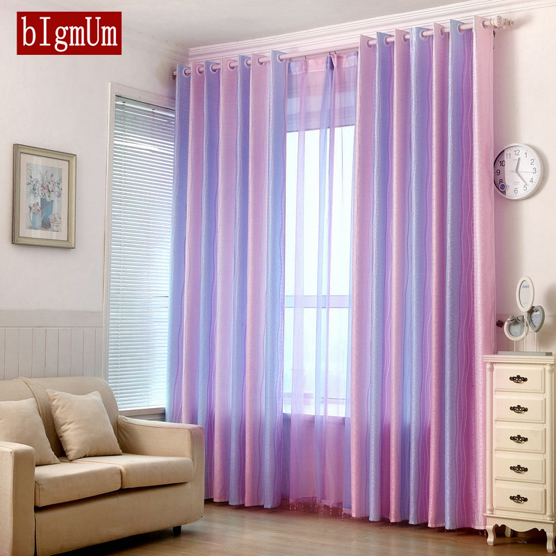 Colorful Living Room Curtains: Colorful Rainbow Modern Curtains Striped Window Curtains