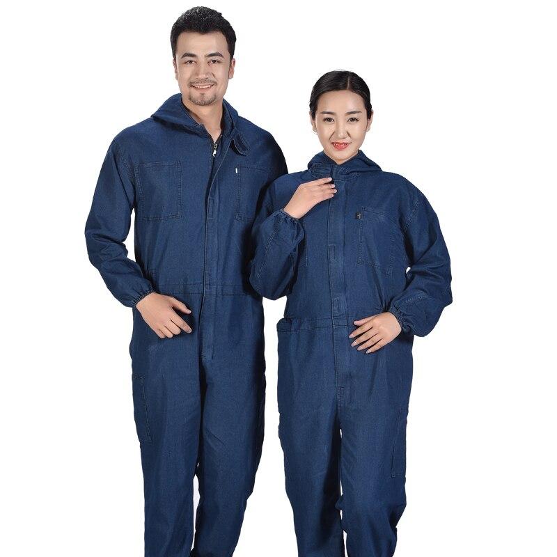 2018 Männer Mit Kapuze Arbeit Tragen Overall Herren Workwear Cargo Hosen Männlichen Mode Werkzeug Uniformen Arbeit Schutz Overalls A61409