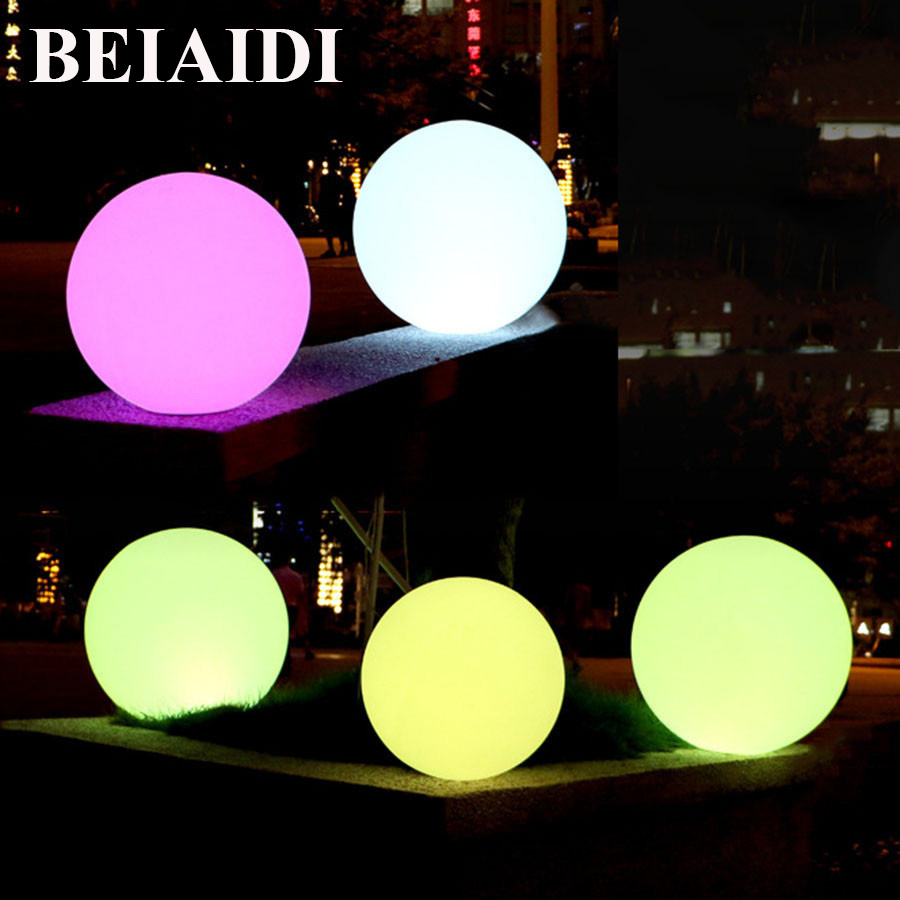 BEIAIDI IP65 Waterproof Illuminated Globe Ball Light Rechargeable Led Night Light With Remote Outdoor Villa Landscape Lawn Lamp outdoor waterproof colorful changeable rechargeable remote controller 60cm round led globe ball light global lamp for decoration