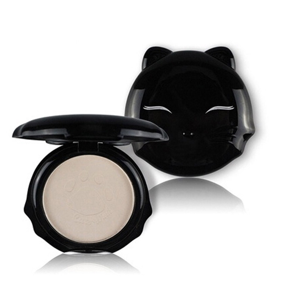 1PCS 5 Colors Hotsale Beauty Women Cat Shape Pressed Powder Smooth Face Makeup Foundation Whitening Setting Powder