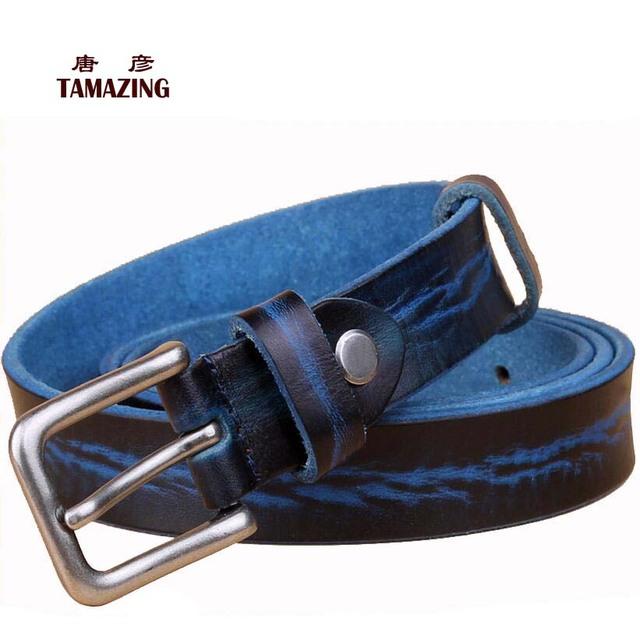 Correia 100% de couro genuíno das mulheres do vintage todo o jogo cinta pin fivela cintos casuais formais para as mulheres