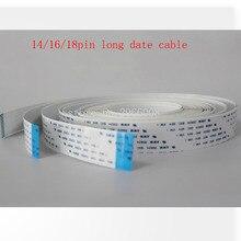 free shipping!14Pin 5.5meters opposite direction printer date cable for Infiniti/Icontek/Phaeton/Liyu long flat