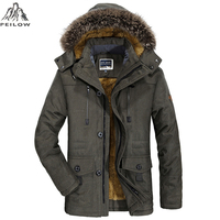 PEILOW Plus Size 5XL 6XL Winter Jacket Men Thick Windproof Hood Parka Mens Jackets And Coats