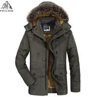 PEILOW Plus Size 5XL 6XL Winter Jacket Men Thick Windproof Hood Parka Mens Jackets And Coats