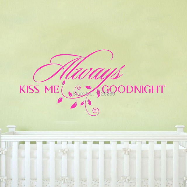 Online Shop Always Kiss Me Goodnight Loving Art Wall Decal Removable ...