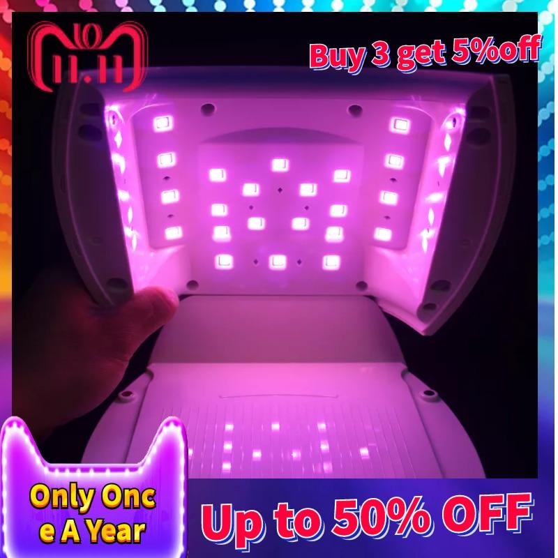 60 W rouge LED rapide Nial sèche-linge SUN A6 LED lampe UV lampe UV pour ongle Gel vernis manucure avec minuterie bouton capteur ongles Art outils