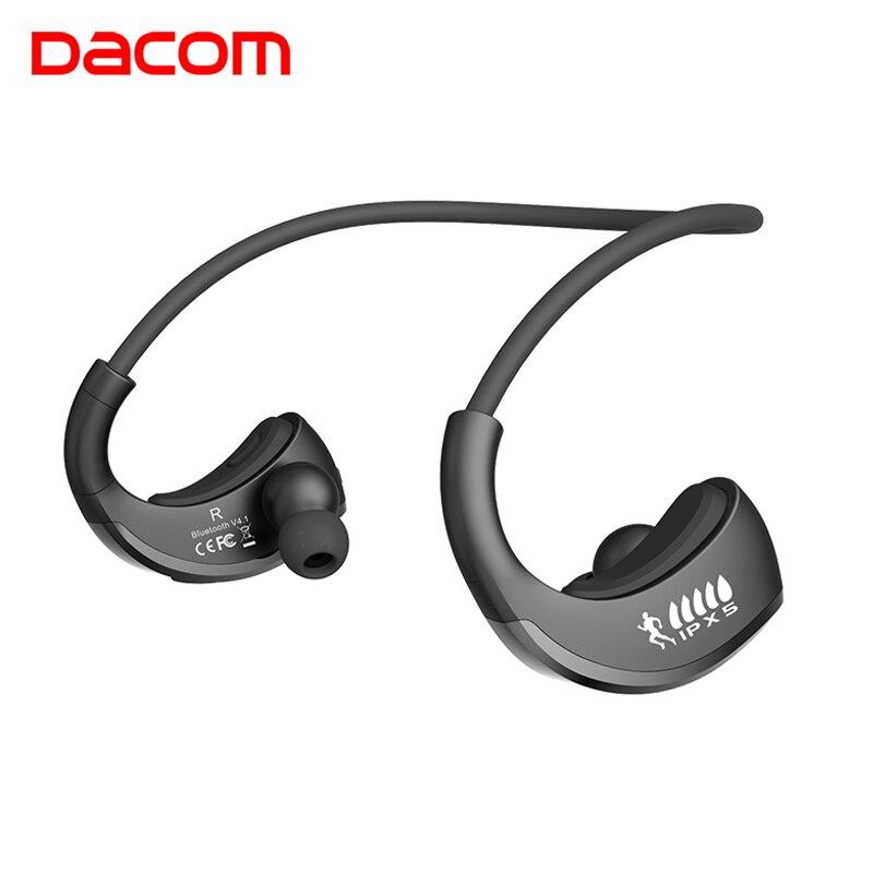 Dacom G06 cordless sport headset wireless bluetooth earphone headphone with mic for phone iphone blutooth earpiece handsfree ear