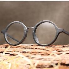 20b6cf81f3f Fashion Wooden Eyeglasses Frame for Men UltraLight Round Frame Vintage  Imitation Wooden Optical Bamboo Glasses Women Oculos Male