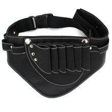Melna krāsa matu rīki soma regulējama PU matu šķērveida soma salons matu bīdes jostas soma šķērēm ķemme matu frizieris pounch soma
