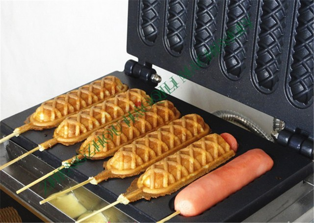 buy hot selling crispy machine french hot dog lolly stick hot dogs machine. Black Bedroom Furniture Sets. Home Design Ideas