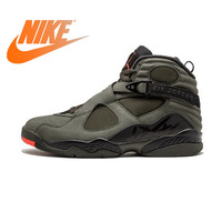 Original Authentic NIKE FLIGHT Air Jordan 8 Retro Take Flight Mens Basketball Shoes Sneakers Breathable Sport Outdoor 305381