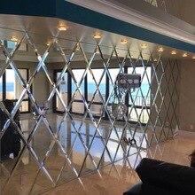 Роскошные Скошенные зеркальные плитки украшения, зеркало для гостиной фон