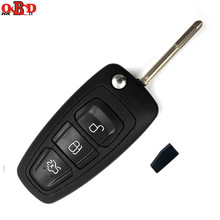 Hot!HKOBDII 433MHZ 4D60 Chip For FORD Focus Mondeo Fiesta Folding Flip Remote Car Key With F021 Blade