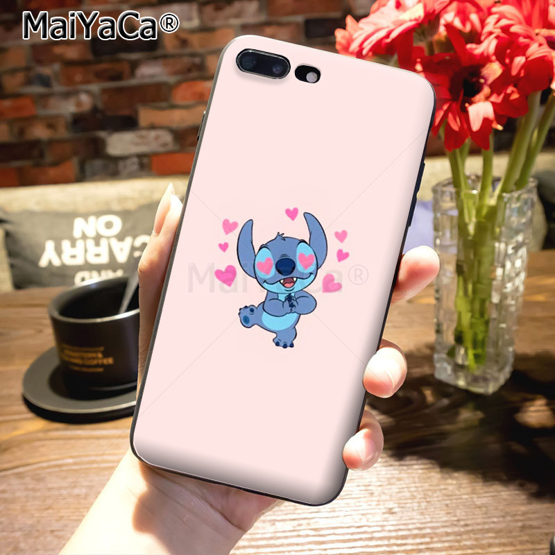 MaiYaCa cartoon Lilo Stitch Novelty Fundas Phone Case Cover for iPhone 8 7 6 6S Plus X 10 5 5S SE 5C case Coque
