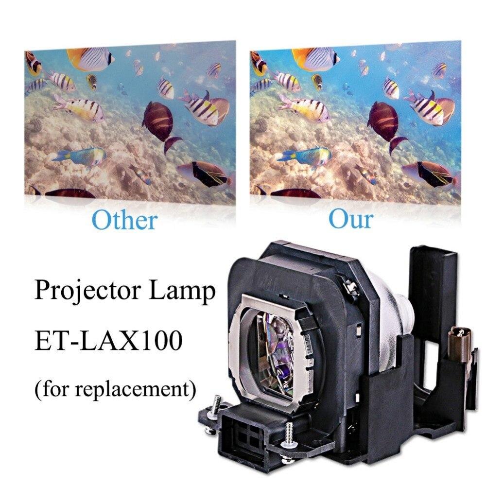 Lampe de projecteur ampoule ET-LAX100 pour PANASONIC PT-AX100 PT-AX100E PT-AX100U TH-AX100 PT-AX200 PT-AX200E PT-AX200U avec boîtier - 2