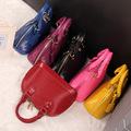 Water ripple shell bag genuine leather small Small red cowhide bag mini shell bag Medium women's handbag cross-body handbag