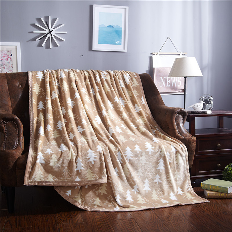 christmas blanket soft fleece bedsheet throws with tree pattern twin full queen king size gray white